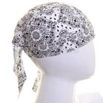 White Paisley Cotton Zandana