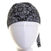 Black Paisley Cotton Zandana