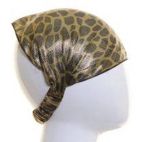 Green Metallic Animal Print Headwrap