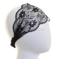 Black Lace Wide Headband