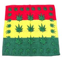 Multicoloured Striped Hemp Plant Bandana