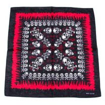 Black Deadly Skulls Printed Bandana