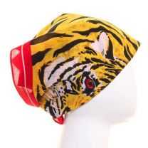 Tiger Print Cotton Bandana
