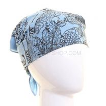 Sky Blue Chinese Dragon Bandana
