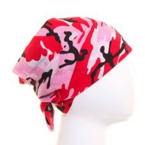 Red and Pink Camouflage Bandana