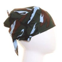 Multicoloured Light Blue Camouflage Bandana