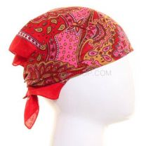Red Royal Paisley Patterned Bandana