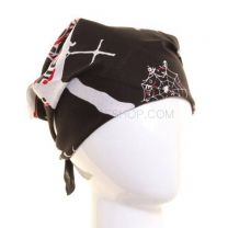 Black Gothic Skulls & Crosses Bandana