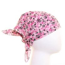 Pink Miniature Skulls and Lips Bandana