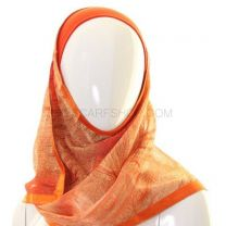 Orange Abstract Swirls Al Amira Kuwaiti Hijab