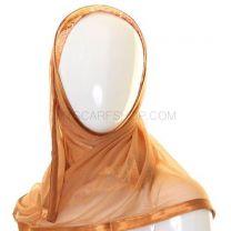 Bronze Glitter Floral Al Amira Kuwaiti Hijab
