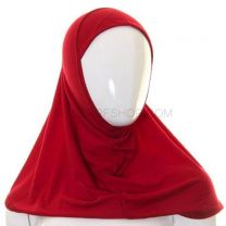 Kids 1 Piece Al Amira Hijab (Crimson Plain)