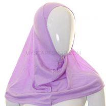 Kids 1 Piece Al Amira Hijab (Lilac Plain)