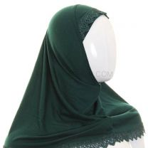 Children's Lace Trim 1 Piece Al Amira Hijab (Jade)