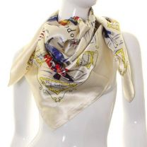 I Love London Square Satin Scarf