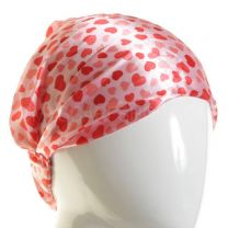 3in1 Red Hearts Satin Headband
