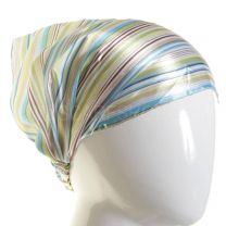 3in1 Green Stripes Headwrap
