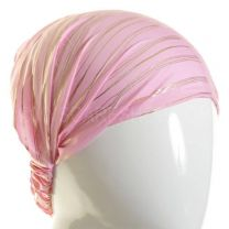 3in1 Pink Gold Stripes Headwrap