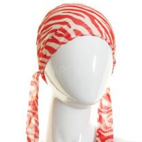 Red Zebra Print Scarf Headband