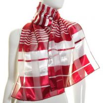 Crimson Stripes Satin Stripe Scarf