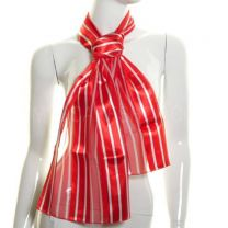 Red Vertical Stripes Satin Stripe Scarf