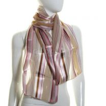 Pink & Beige Stripes Satin Stripe Scarf
