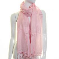 Light Pink Plain Pashmina