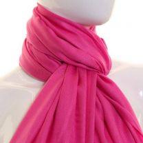 Lipstick Pink Plain Pashmina