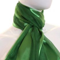 Green Satin Stripe Scarf