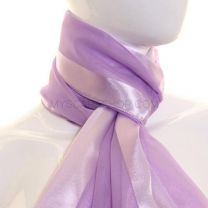 Lilac Satin Stripe Scarf