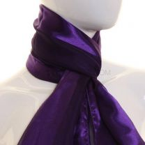 Purple Satin Stripe Scarf