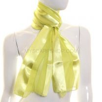 Lime Yellow Satin Stripe Scarf