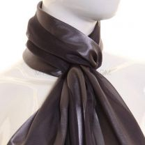 Dark Grey Satin Stripe Scarf
