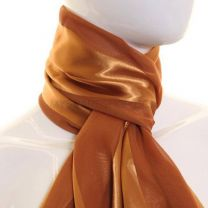 Bronze Satin Stripe Scarf