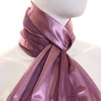 Antique Purple Satin Stripe Scarf
