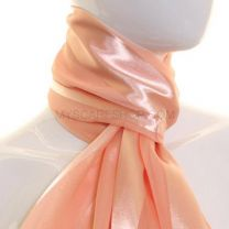 Peach Satin Stripe Scarf