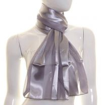Grey Satin Stripe Scarf