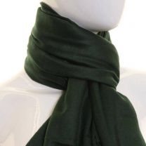 Dark Green Plain Pashmina