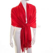 Red Plain Pashmina
