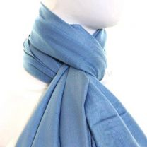 Cold Blue Plain Pashmina