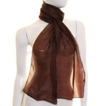 Brown Silk Neck Scarf