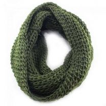 Khaki Chunky Knitted Snood