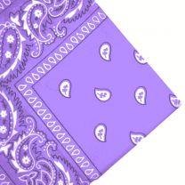 Lilac Paisley Bandana