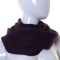 Purple Lurex Knitted Snood