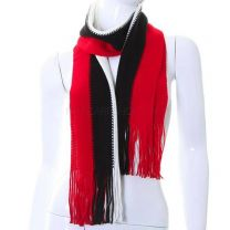 Red Assorted Stripes Knitted Winter Scarf