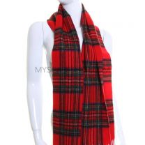 Lambswool Scarf in Red Royal Stewart Tartan