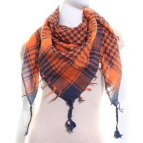 Navy & Orange Arab Scarf (Shemagh)