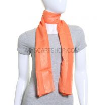 Orange Floral Stripes Scarf