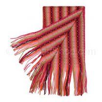 Orange Zig Zag Knitted Scarf