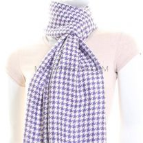 Purple Houndstooth Winter Pashmina